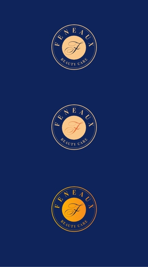 feneaux logo on dark blue background