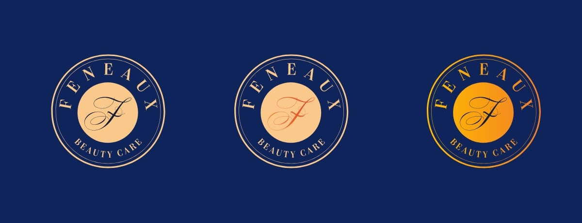 feneaux logo on dark blue background horizontal layout