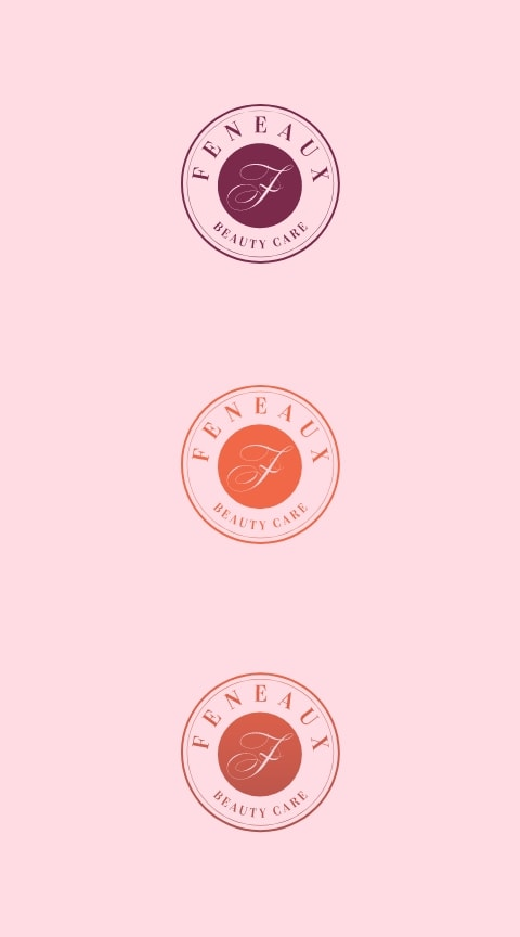 feneaux logo on pink background