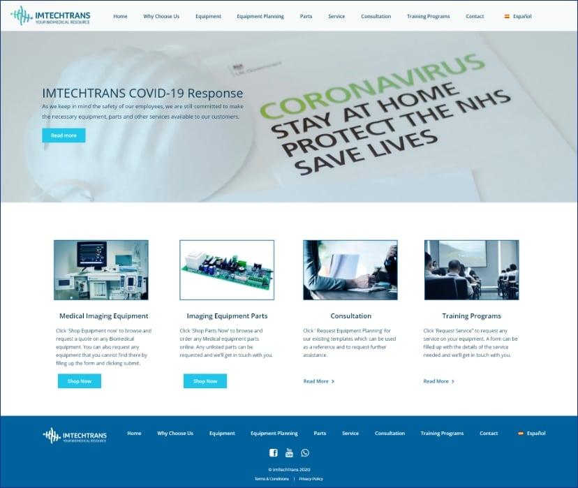 Imtechtrans website homepage