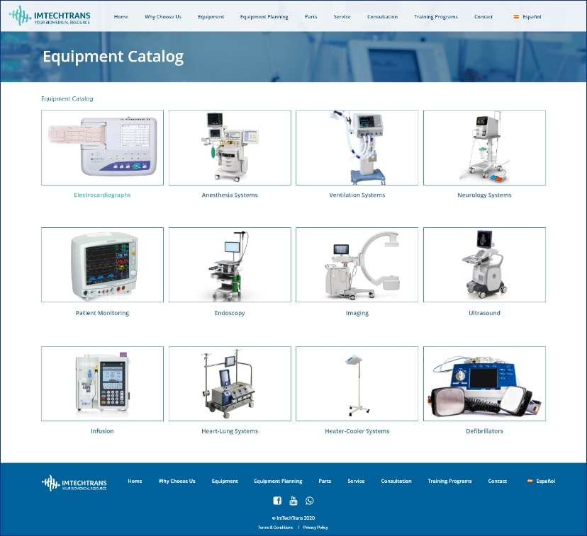 Imtechtrans website catalog